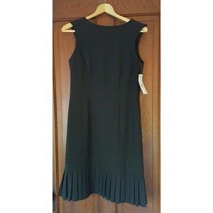 Black Dress with pleated trim